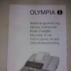 Libros: LIBRO DE INSTRUCCIONES DE MANEJO DE CALCULADORAS OLYMPIA MODELO CPD 3212/5212. Lote 124519855