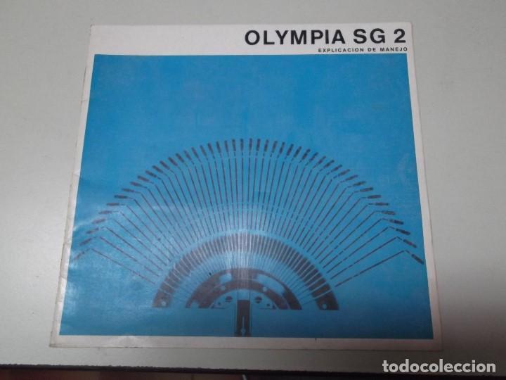 MANUAL DE INSTRUCCIONES DE MAQUINA DE ESCRIBIR OLYMPIA MODELO SG 2 (Libros Nuevos - Ocio - Informática - Ofimática)