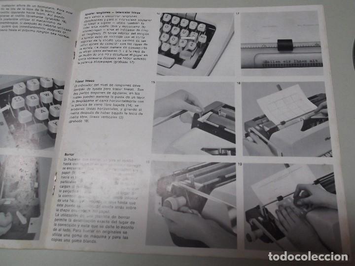 Libros: MANUAL DE INSTRUCCIONES DE MAQUINA DE ESCRIBIR OLYMPIA MODELO SG 2 - Foto 2 - 124672931
