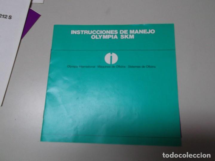 MANUAL DE INSTRUCCIONES DE MAQUINA DE ESCRIBIR OLYMPIA MODELO SKM (Libros Nuevos - Ocio - Informática - Ofimática)