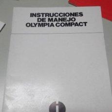 Libros: MANUAL DE INSTRUCCIONES DE MAQUINA DE ESCRIBIR OLYMPIA MODELO COMPACT. Lote 124675339