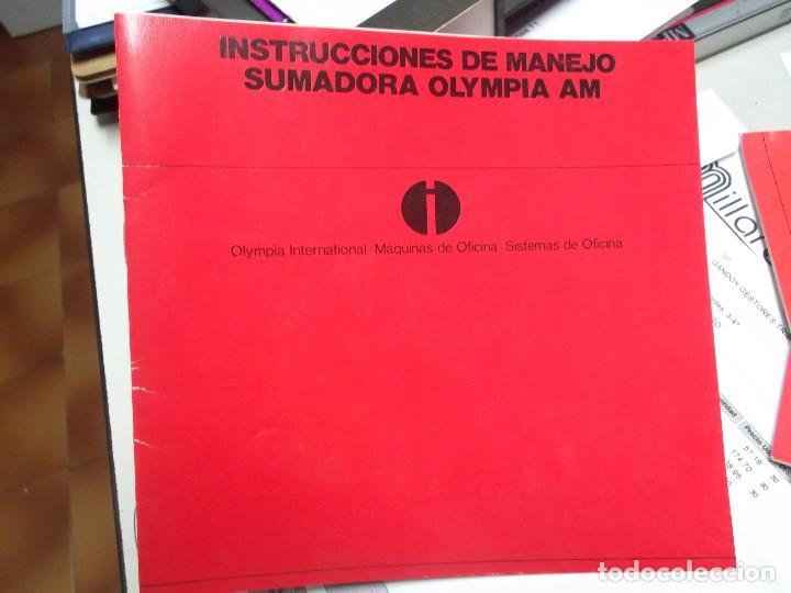 MANUAL DE INSTRUCCIONES DE MAQUINA SUMADORA ELECTRICA OLYMPIA AM (Libros Nuevos - Ocio - Informática - Ofimática)