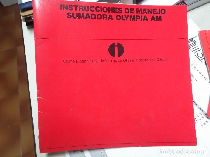 Libros: MANUAL DE INSTRUCCIONES DE MAQUINA SUMADORA ELECTRICA OLYMPIA AM - Foto 3 - 124677087