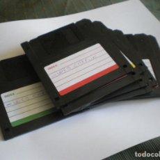 Libros: 10 DISKETTES 3.5 FORMATEADOS Y USADOS CON CAJA DE PLASTICO. Lote 205244957