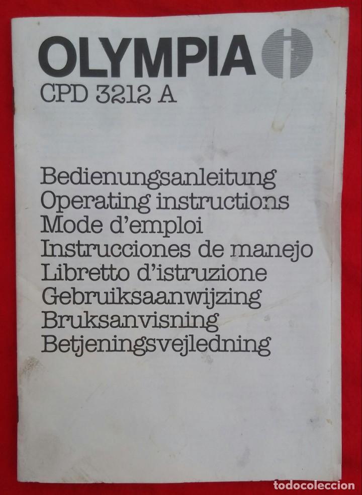 Libros: OLYMPIA CPD 3212 A - LIBRO DE INSTRUCCIÓNES Y MANEJO - 30 PÁG. - 21 cm x 15 cm - Foto 2 - 212589612