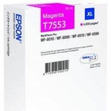 Libros: EPSON CARTUCHO ORIGINAL T7553 MAGENTA XL C13T755340. 4.000 PÁGINAS. 39 ML. Lote 227919080