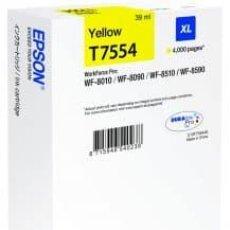 Libros: EPSON CARTUCHO ORIGINAL T7554 AMARILLO XL C13T755440. 4.000 PÁGINAS. 39 ML. Lote 227919275
