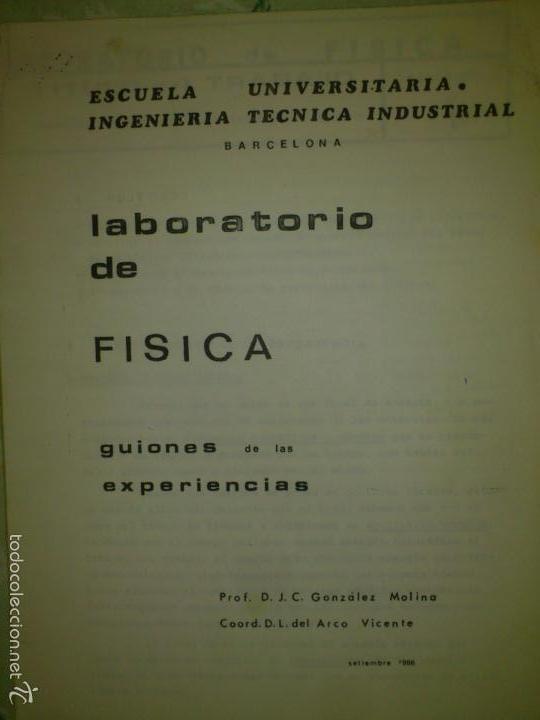 PRACTICAS FISICA ESCUELA INGENIERIA TECNICA 87 (Libros Nuevos - Oposiciones)