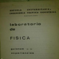 Libros: PRACTICAS FISICA ESCUELA INGENIERIA TECNICA 87. Lote 80238437
