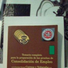 Libros: TEMARIO CORREOS Y TELEGRAFOS. Lote 97805720