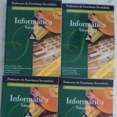 Libros: LIBROS: TEMARIO OPOSICIONES INFORMÁTICA ED. MAD. Lote 102900191