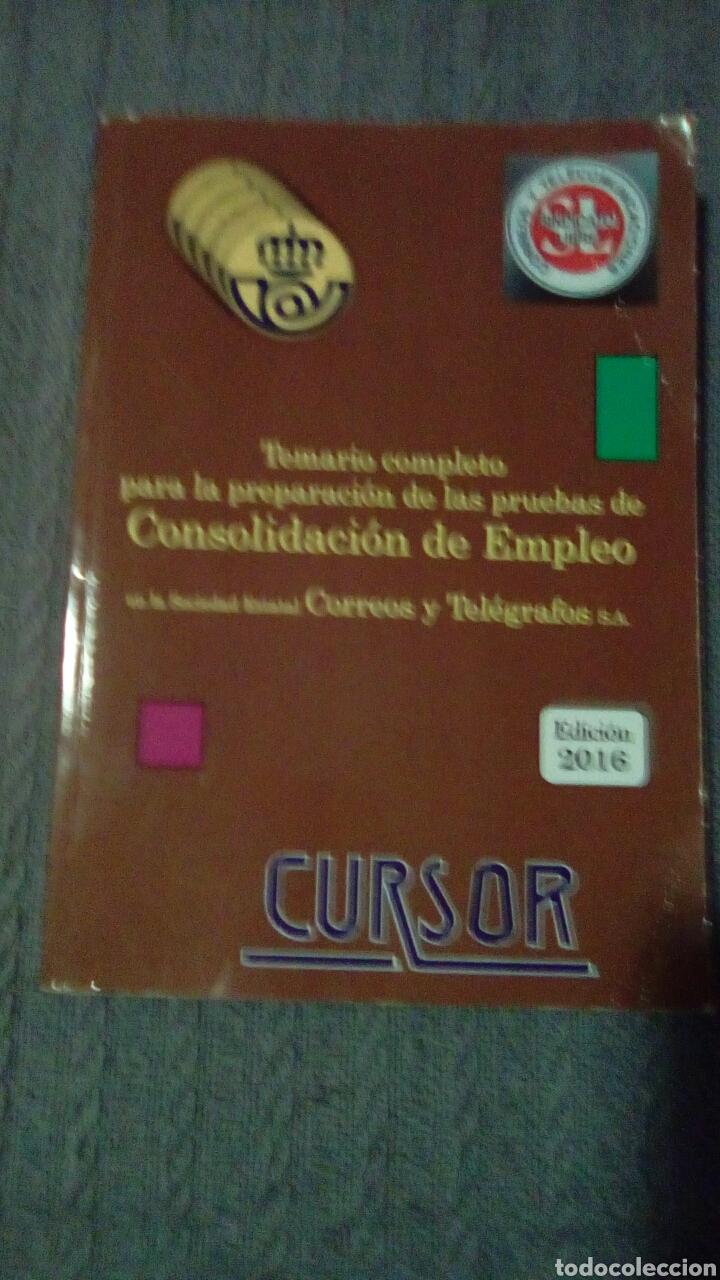 TEMARIO CONSOLIDACIÓN EMPLEO DE CORREOS (Libros Nuevos - Oposiciones)