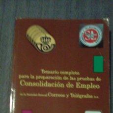 Libros: TEMARIO CONSOLIDACIÓN EMPLEO DE CORREOS. Lote 111047591