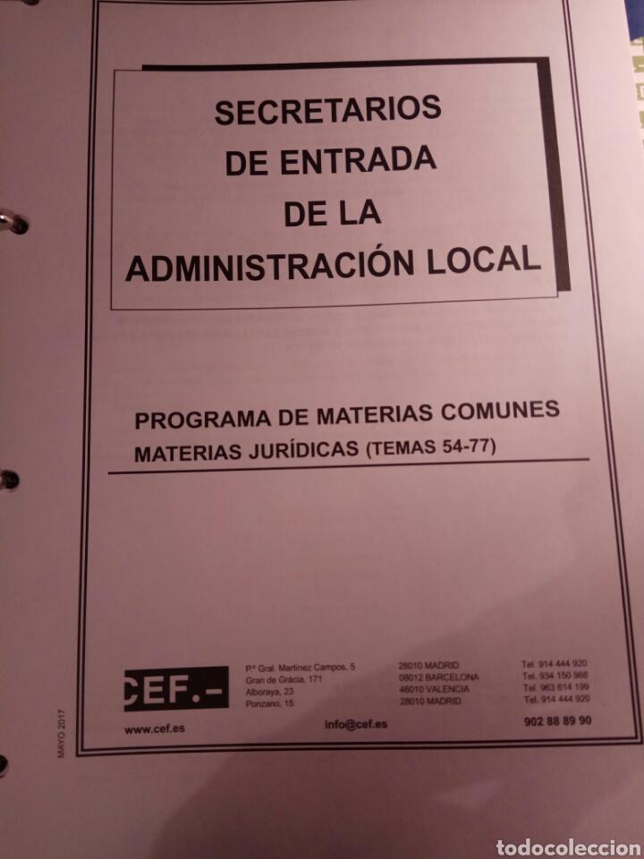 Libros: Temario de oposicion, secretario de entrada de administración local - Foto 6 - 114530834