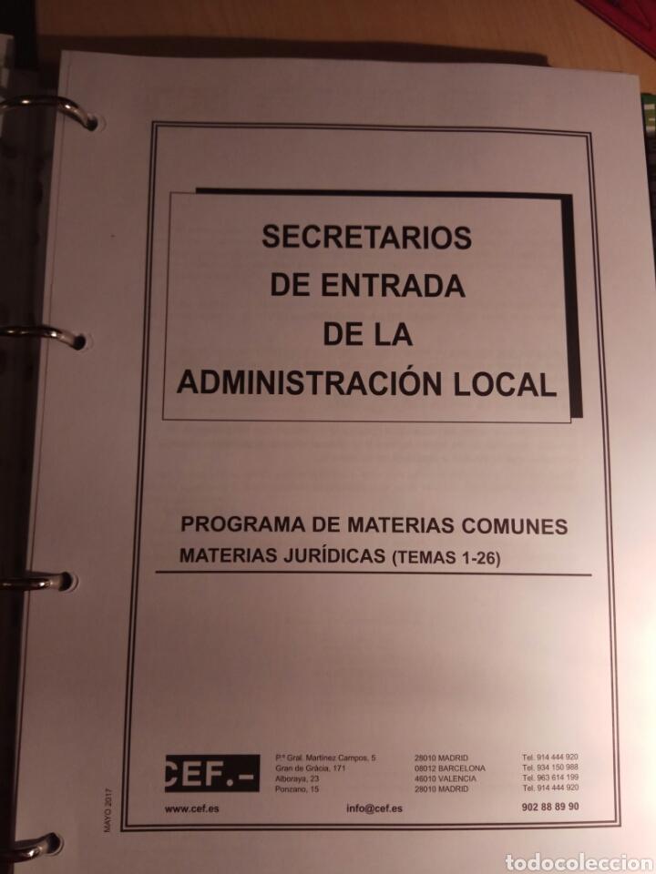 Libros: Temario de oposicion, secretario de entrada de administración local - Foto 9 - 114530834