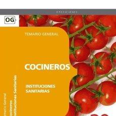 Libros: COCINEROS DE INSTITUCIONES SANITARIAS. TEMARIO. Lote 114774582