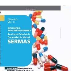 Libros: DIPLOMADO SANITARIO/ENFERMERA DEL SERVICIO DE SALUD DE LA COMUNIDAD DE MADRID. SERMAS. TEM. Lote 114774584