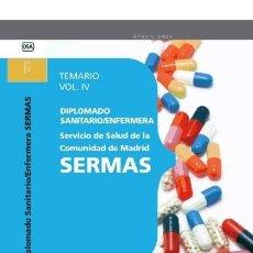 Libros: DIPLOMADO SANITARIO/ENFERMERA DEL SERVICIO DE SALUD DE LA COMUNIDAD DE MADRID. SERMAS. TEM. Lote 114774727