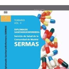 Libros: DIPLOMADO SANITARIO/ENFERMERA DEL SERVICIO DE SALUD DE LA COMUNIDAD DE MADRID. SERMAS. TEM. Lote 114774991