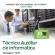 Libros: TÉCNICO AUXILIAR DE INFORMÁTICA DE LA ADMINISTRACIÓN GENERAL DEL ESTADO. TEMARIO Y TEST BL. Lote 121591984