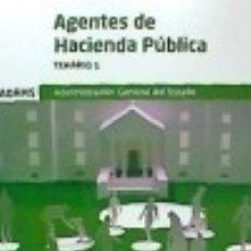 Libros: TEMARIO 1 AGENTES DE HACIENDA PÚBLICA. Lote 121592272