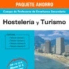 Libros: PAQUETE AHORRO HOSTELERÍA Y TURISMO CUERPO DE PROFESORES DE ENSEÑANZA SECUNDARIA. Lote 126527579