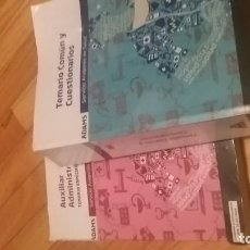 Libros: TEMARIOS SALUD ARAGON AUX. ADMVO. 2017. Lote 131011428