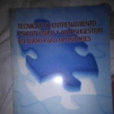 Libros: TÉCNICAS DE ENTRENAMIENTO PSICOTÉCNICO. Lote 134873914