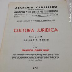Libros: CULTURA JURIDICA. Lote 136603641