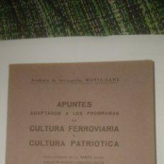 Libros: 1945. APUNTES FERROVIARIOS PARA INGRESO EN RENFE. Lote 141852350