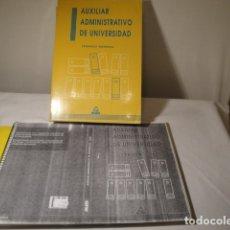 Libros: MAD EDITORIAL, S.L.- AUXILIAR ADMINISTRATIVO DE UNIVERSIDAD. AÑO 1994. OPOSICIONES. USADO.. Lote 79843817