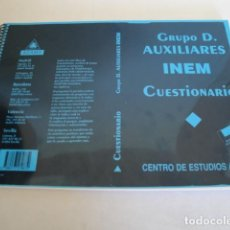 Libros: GRUPO D. AUXILIARES INEM. ADMINISTRATIVOS PERSONAL LABORAL FIJO. MUY COMPLETO.. Lote 159734142