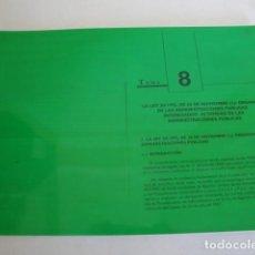 Libros: TEMAS: LA LEY 30/1992 DEL 26 DE NOVIEMBRE Y PERSONAL AL SERVICIO DE LA ADMINISTRACIÓN. CUADERNO.. Lote 159752170