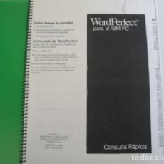 Libros: WORDPERFECT 5.0 PARA IBM PC. TRATAMIENTO DE TEXTOS. AÑO 1989.. Lote 159758742