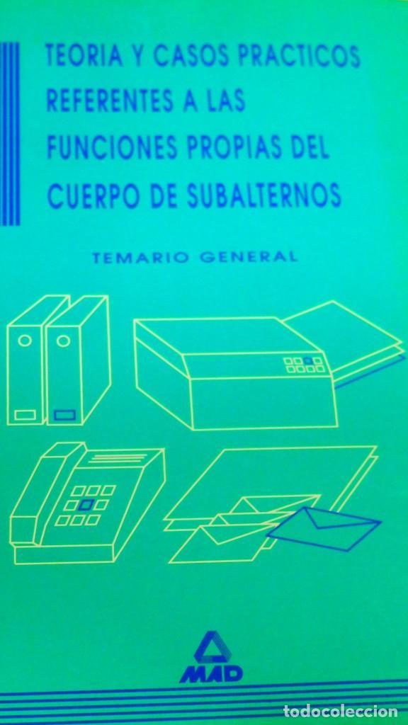 LIBRO OPOSICIONES DE TEORÍA Y CASOS PRÁCTICOS CUERPO DE SUBALTERNOS (Libros Nuevos - Oposiciones)