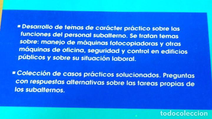Libros: LIBRO OPOSICIONES DE TEORÍA Y CASOS PRÁCTICOS CUERPO DE SUBALTERNOS - Foto 2 - 160722882
