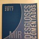 Libros: MIR - DESGLOSES COMENTADOS ACTUALIZACIÓN 2017 - NUEVO. Lote 161751378