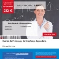 Libros: PACK AHORRO BÁSICO. CUERPO DE PROFESORES DE ENSEÑANZA SECUNDARIA. FÍSICA Y QUÍMICA. Lote 172057947