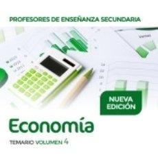 Libros: PROFESORES DE ENSEÑANZA SECUNDARIA ECONOMÍA TEMARIO VOLUMEN 4. Lote 176253629