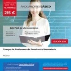 Libros: PACK AHORRO BÁSICO. CUERPO DE PROFESORES DE ENSEÑANZA SECUNDARIA. MÚSICA. Lote 176897534