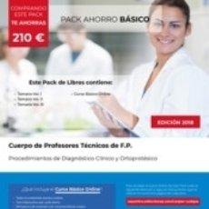 Libros: PACK AHORRO BÁSICO. CUERPO DE PROFESORES TÉCNICOS DE F.P. PROCEDIMIENTOS DE DIAGNÓSTICO CLÍNICO Y. Lote 178187076