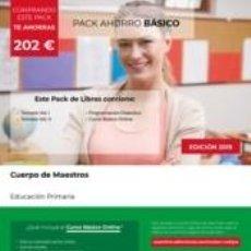 Libros: PACK AHORRO BÁSICO. CUERPO DE MAESTROS. EDUCACIÓN PRIMARIA. Lote 187599697