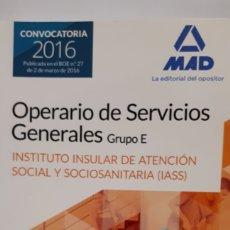 Libros: OPERARIO DE SERVICIOS GENERALES GRUPO E. Lote 199768532