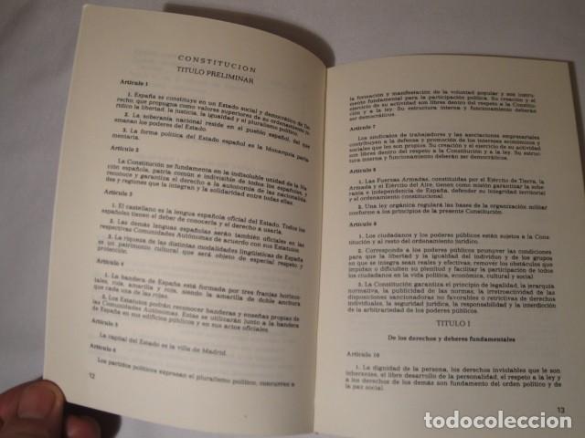 Libros: Constitución Española y el Estatuto de Autonomía de La Rioja. Año 1984. NUEVO. - Foto 4 - 207408447