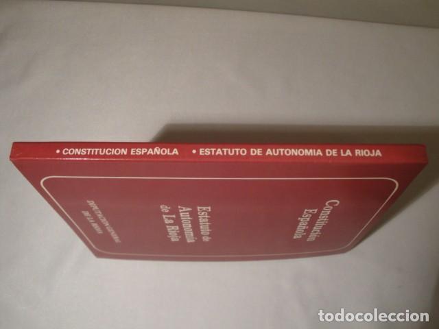 Libros: Constitución Española y el Estatuto de Autonomía de La Rioja. Año 1984. NUEVO. - Foto 6 - 207408447