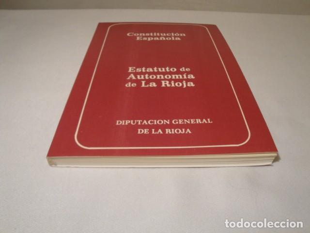 Libros: Constitución Española y el Estatuto de Autonomía de La Rioja. Año 1984. NUEVO. - Foto 7 - 207408447