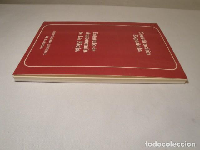 Libros: Constitución Española y el Estatuto de Autonomía de La Rioja. Año 1984. NUEVO. - Foto 8 - 207408447
