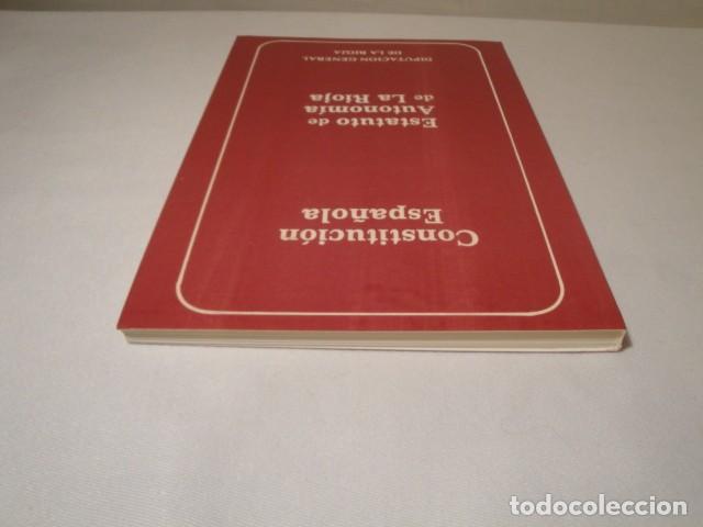 Libros: Constitución Española y el Estatuto de Autonomía de La Rioja. Año 1984. NUEVO. - Foto 9 - 207408447