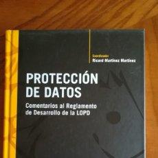 Libros: PROTECCIÓN DE DATOS COMENTARIOS AL REGLAMENTO DE DESARROLLO DE LA LOPD. Lote 210442283