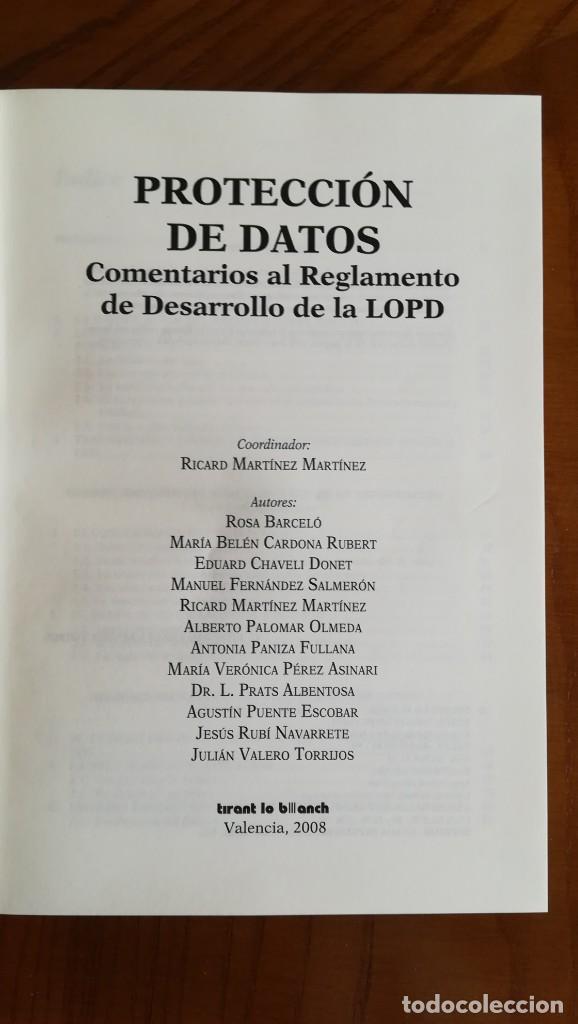 Libros: Protección de datos Comentarios al Reglamento de Desarrollo de la LOPD - Foto 2 - 210442283